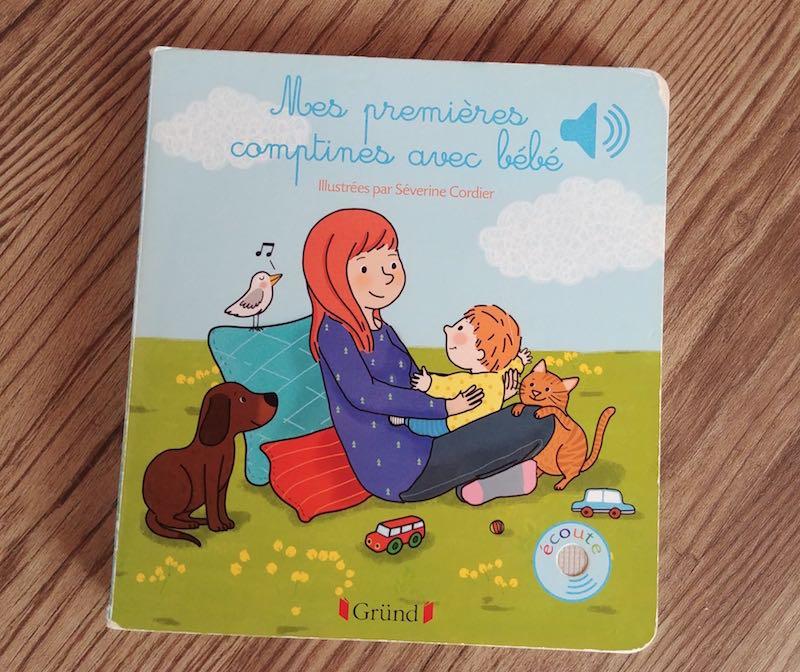 choix de livre pour les premières Comptines de bébé