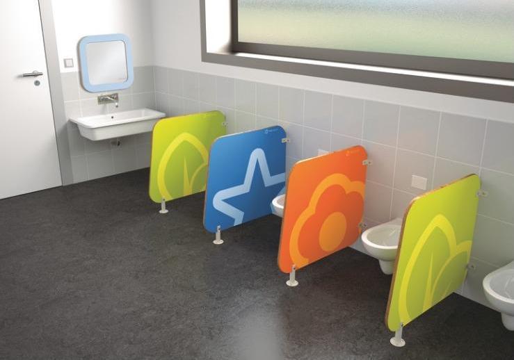Les toilettes adaptées à la taille des enfants. Ca c'est la classe !