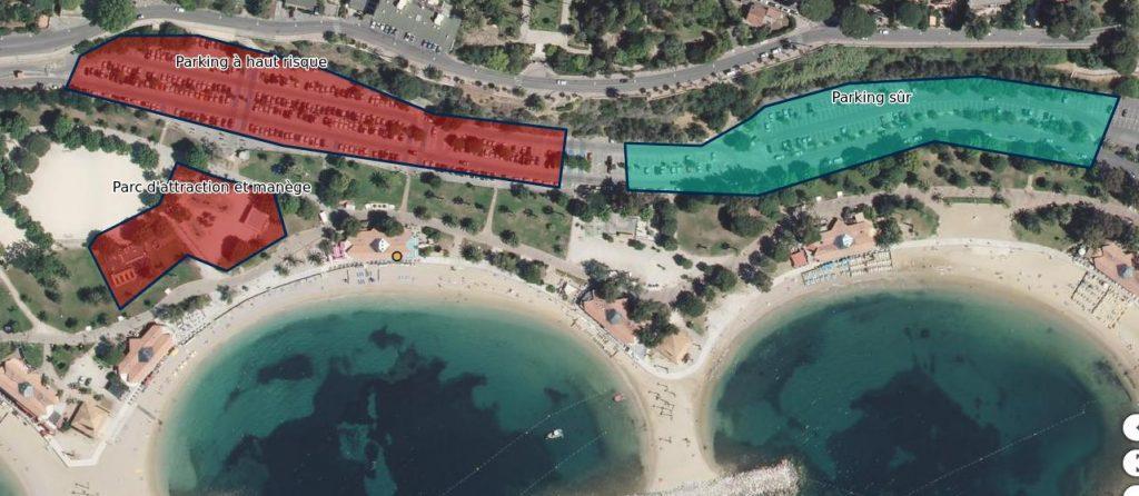 Parkings de la plage du Mourillon à Toulon