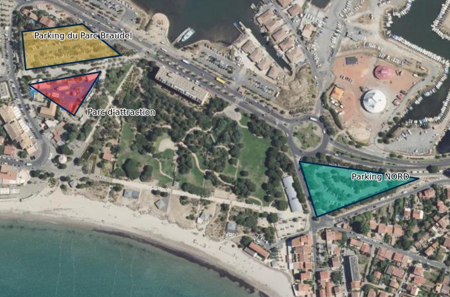 Vacances var : Parking plages Sablettes