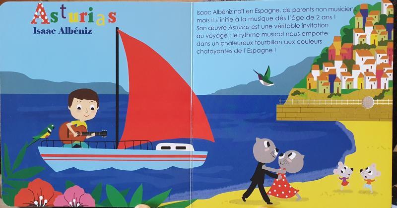 Illustration du livre sonore sur la guitare consacrée à Asturias des Isaac Ibanez