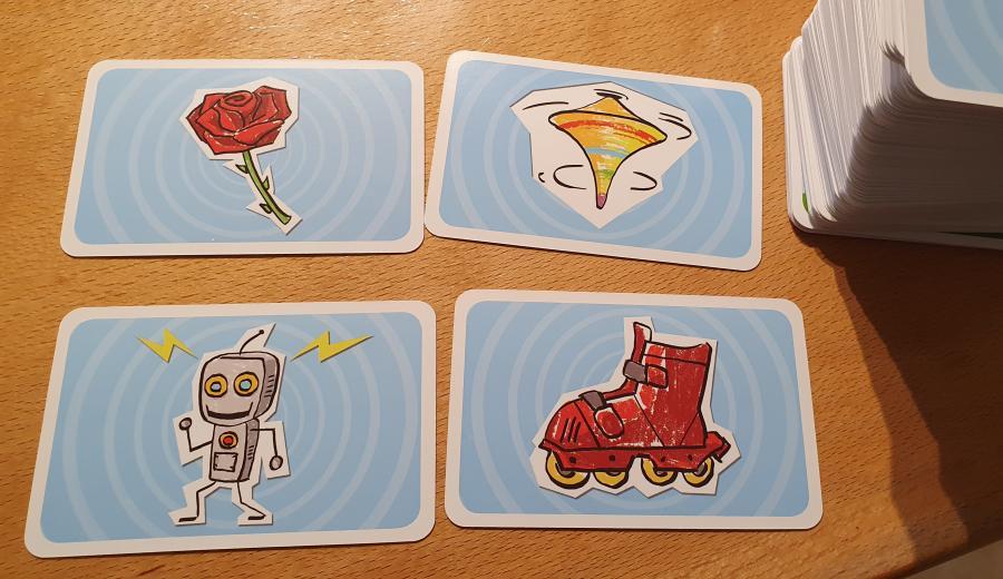 Cartes illustrées du time's up kid pour enfants